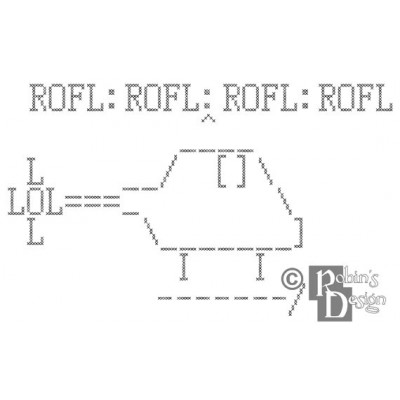 ROFLcopter Cross Stitch Pattern PDF