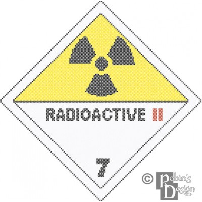 Radioactive Hazard Sign Cross Stitch Pattern PDF