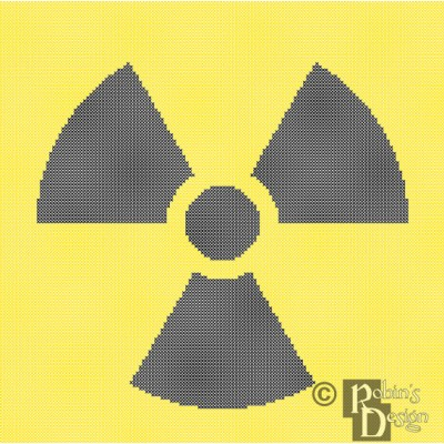 Radioactive Hazard Trefoil Cross Stitch Pattern PDF