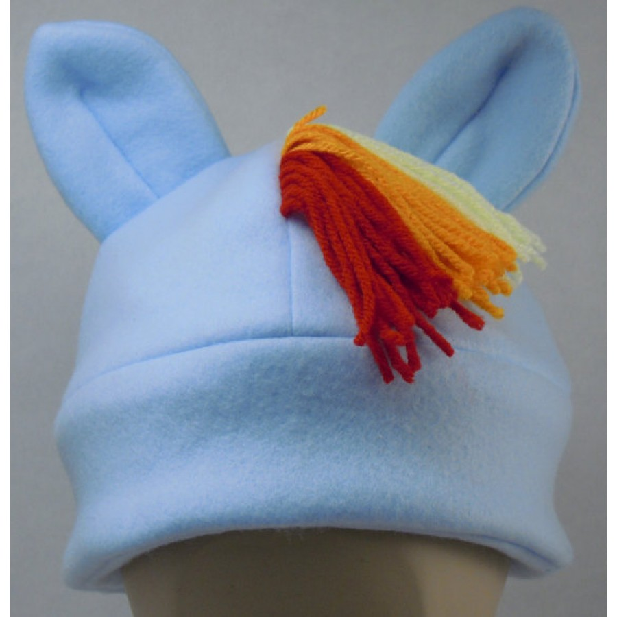 Rainbow Dash Inspired Fleece Pony Hat My Little Pony MLP