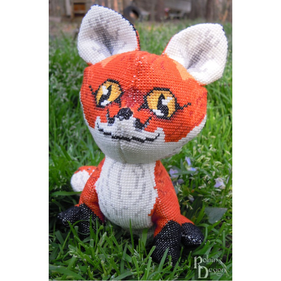 Red Fox Doll 3D Cross Stitch Animal Sewing Pattern PDF