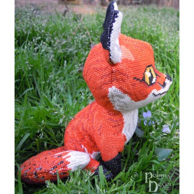 Cinnabar Red Fox Doll 3D Cross Stitch Animal Sewing Pattern PDF Download