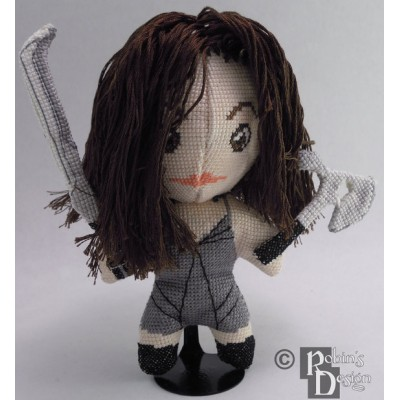River Tam SciFi Doll 3D Cross Stitch Sewing Pattern PDF