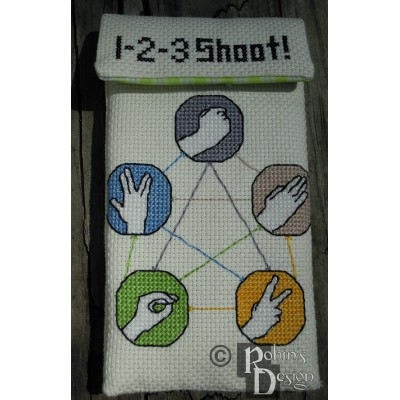 Rock, Paper, Scissors, Lizard, Spock Electronics/Phone Case Cross Stitch Sewing Pattern PDF