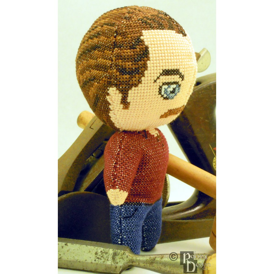 Ron Swanson Doll 3D Cross Stitch Sewing Pattern PDF