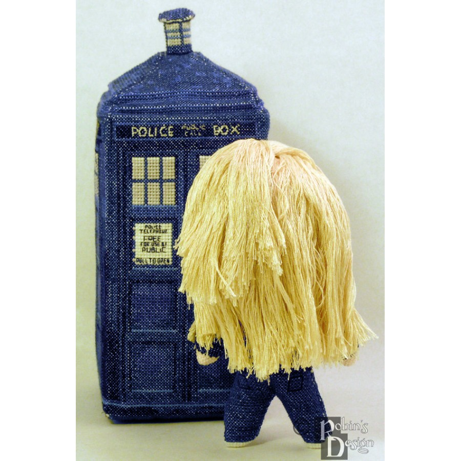 Rose Tyler Doll 3D Cross Stitch Sewing Pattern PDF