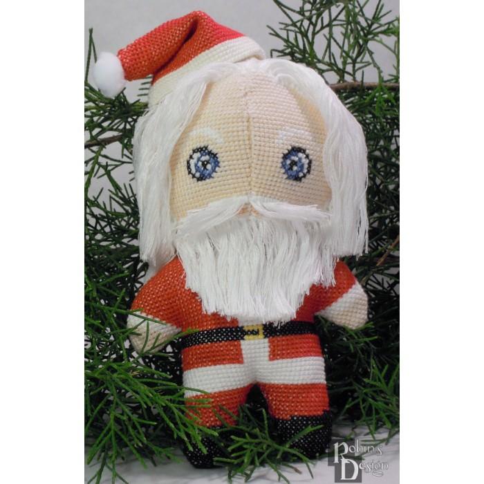 Santa Claus Doll 3D Cross Stitch Sewing Pattern PDF