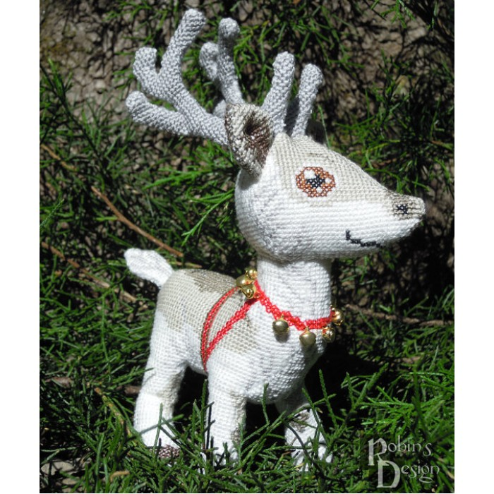 Santa Claus' Reindeer Doll 3D Cross Stitch Animal Sewing Pattern PDF