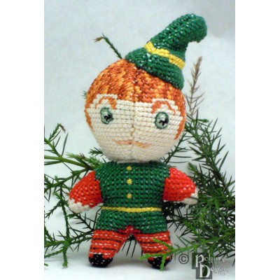 Santa's Elf Doll 3D Cross Stitch Sewing Pattern PDF Download