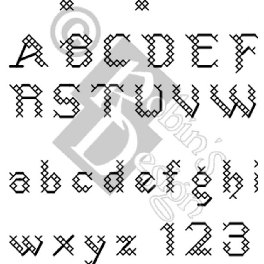 States Font Cross Stitch Pattern PDF