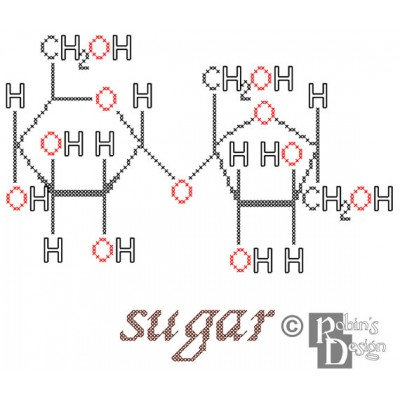 Sugar Molecule Cross Stitch Pattern PDF