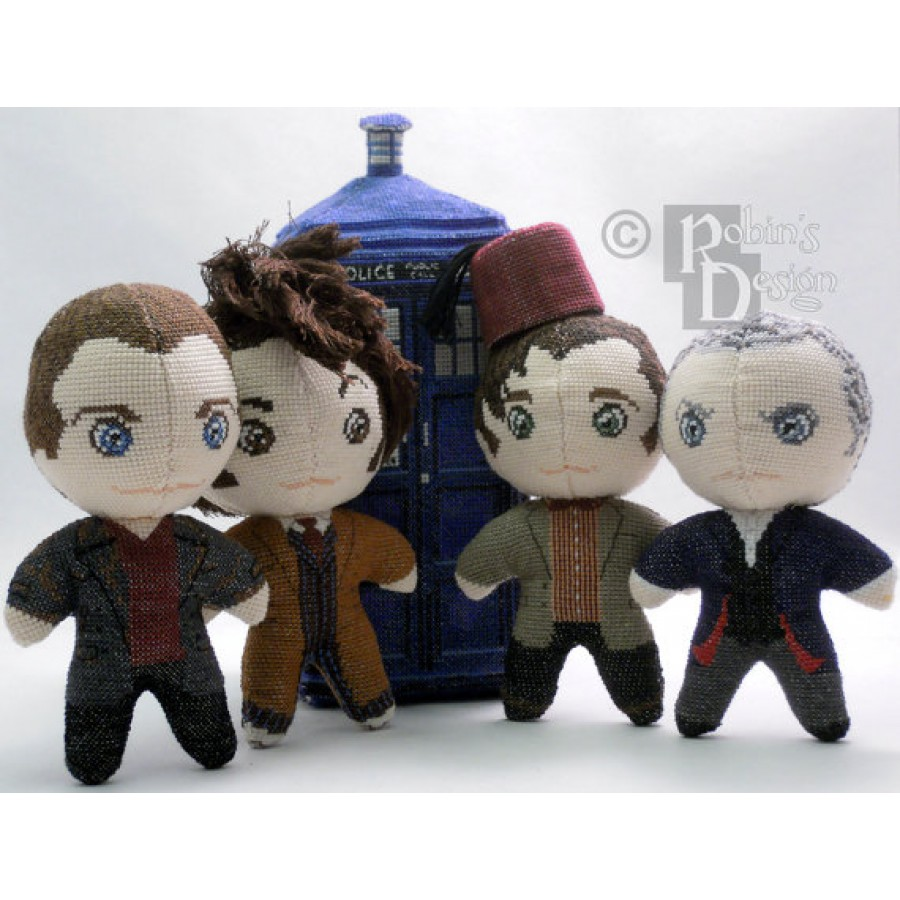 Tardis in 3D Cross Stitch Plush Pattern PDF