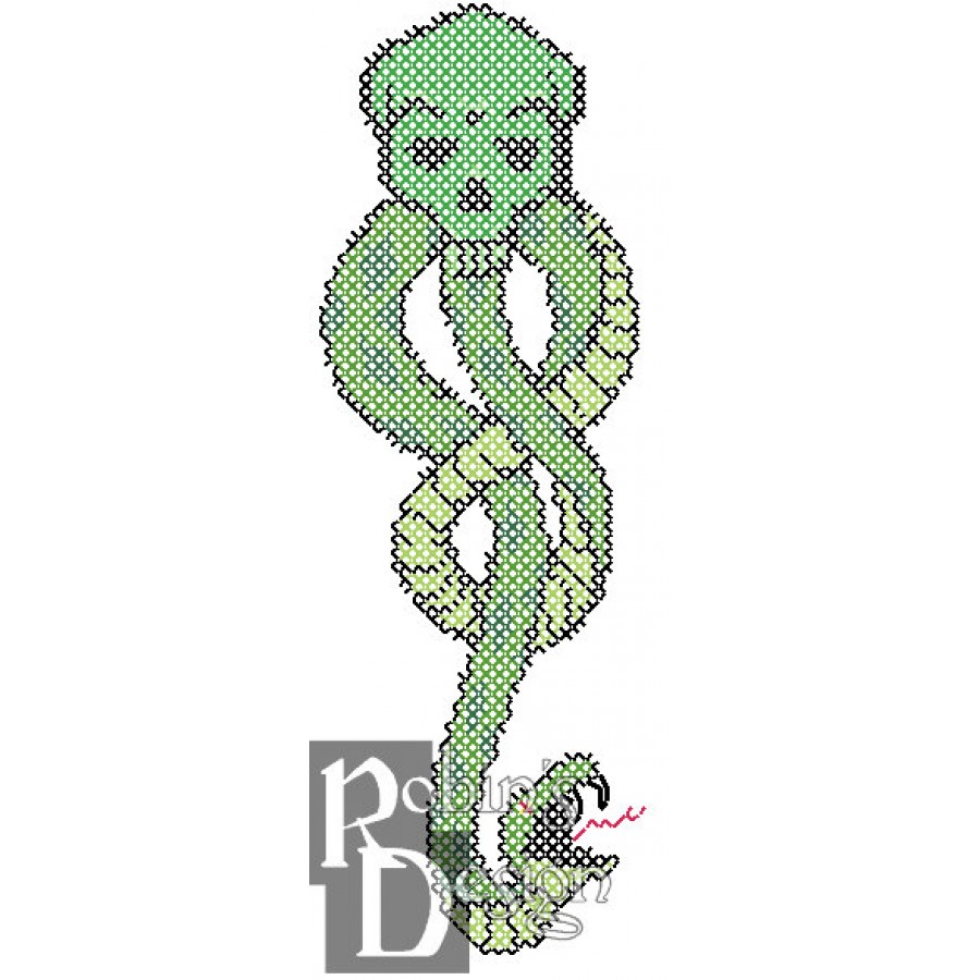 The Dark Mark from Harry Potter for Shirt Patch Counted Cross Stitch Pattern PDF