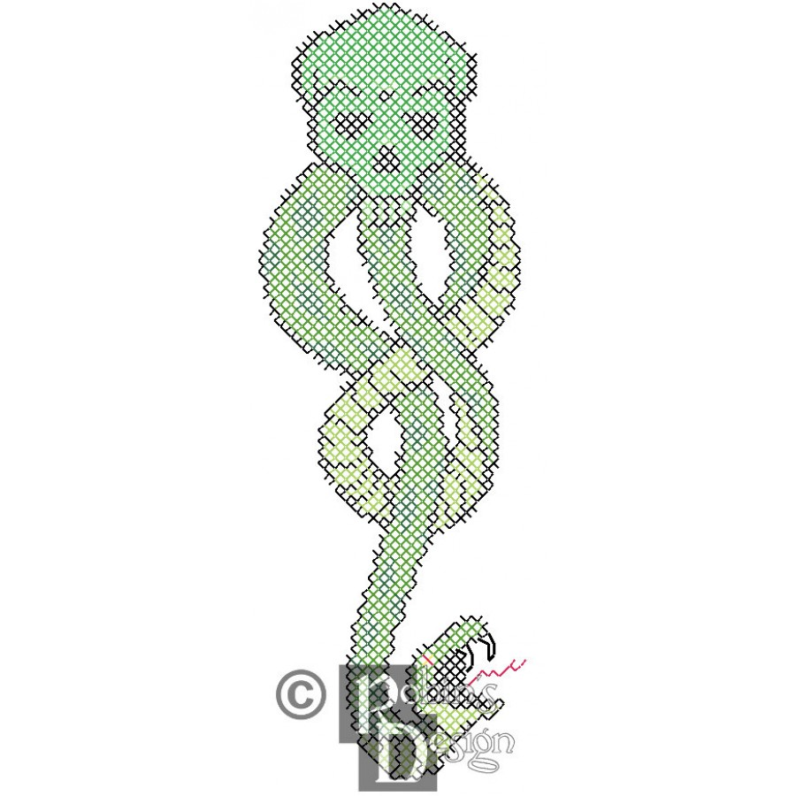 The Dark Mark from Harry Potter for Shirt Patch Counted Cross Stitch Pattern PDF Download