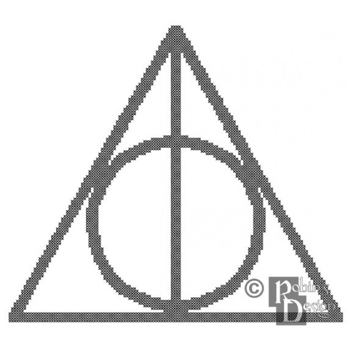 The Deathly Hallows Symbol Cross Stitch Pattern PDF