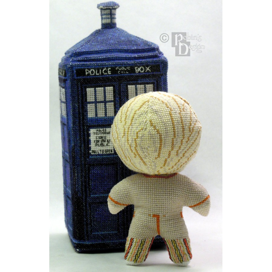 The Fifth Doctor Doll 3D Cross Stitch Sewing Pattern PDF Download