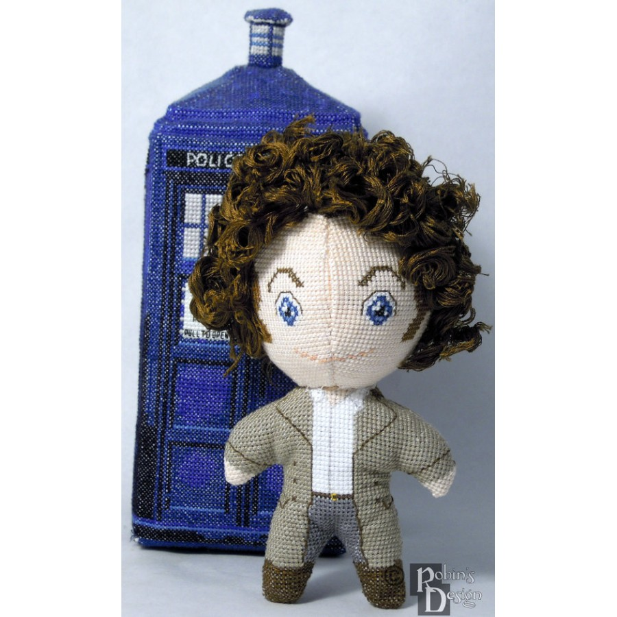 The Fourth Doctor Doll 3D Cross Stitch Sewing Pattern PDF