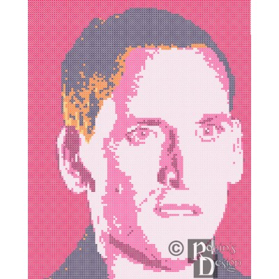 The Ninth Doctor Cross Stitch Pattern PDF