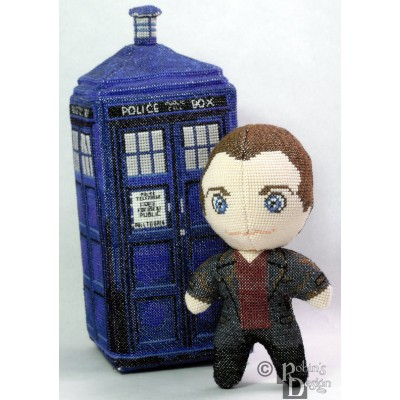 The Ninth Doctor Doll 3D Cross Stitch Sewing Pattern PDF