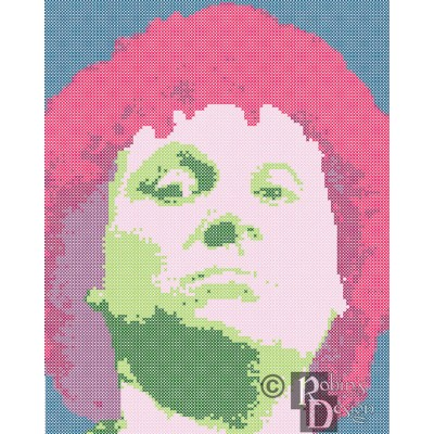 The Sixth Doctor Cross Stitch Pattern PDF