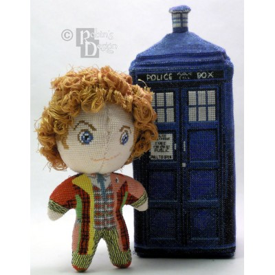 The Sixth Doctor Doll 3D Cross Stitch Sewing Pattern PDF