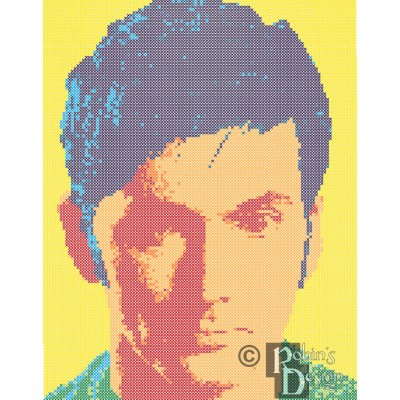 The Tenth Doctor Cross Stitch Pattern PDF