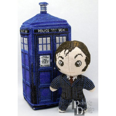 The Tenth Doctor Doll 3D Cross Stitch Sewing Pattern PDF