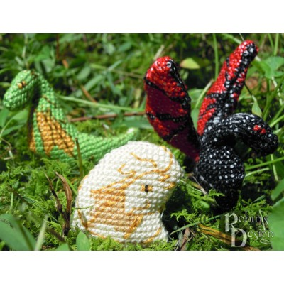 Three Tiny Dragons Dolls 3D Cross Stitch Sewing Pattern PDF