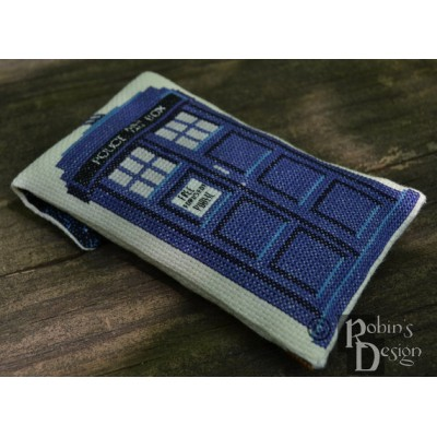 Timey Wimey and Tardis Phone/Electronics Case Cross Stitch Sewing Pattern PDF