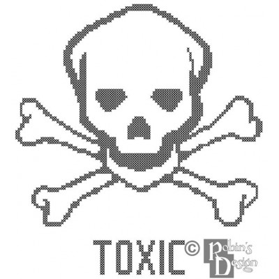 Toxic Cross Stitch Pattern PDF