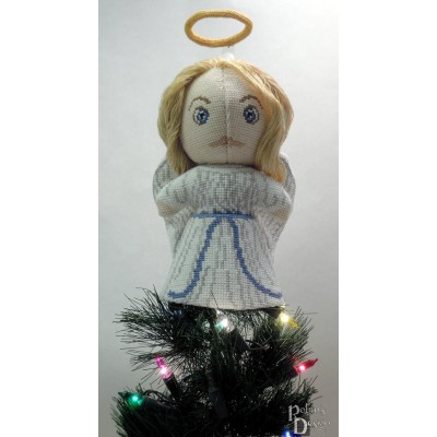 Traditional Angel Doll/Tree Topper 3D Cross Stitch Sewing Pattern PDF Download