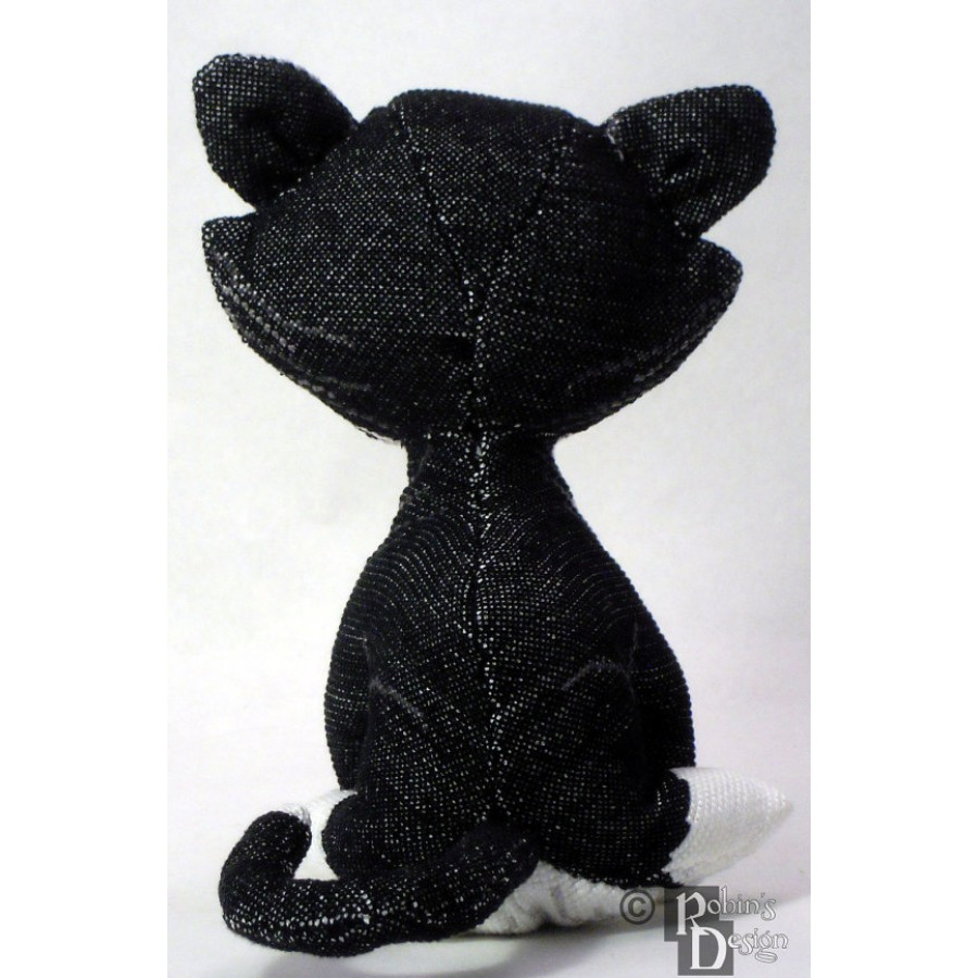 Maurice the Tuxedo Cat Doll 3D Cross Stitch Animal Sewing Pattern PDF