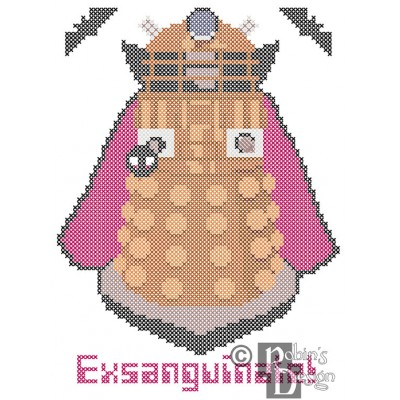 Vampire Dalek Cross Stitch Pattern PDF