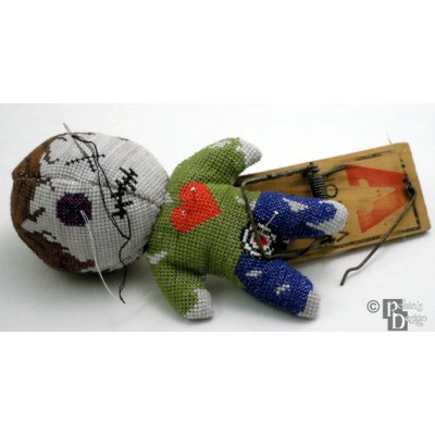 Voodoo Doll Pin Cushion 3D Cross Stitch Sewing Pattern PDF