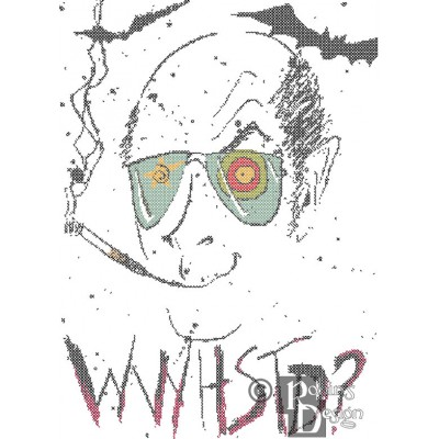 What Would Hunter S Thompson Do Cross Stitch Pattern PDF