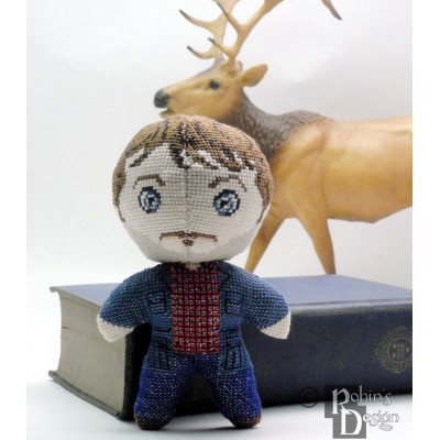Will Graham Doll 3D Cross Stitch Sewing Pattern PDF