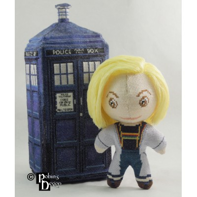 The 13th Doctor Doll 3D Cross Stitch Sewing Pattern PDF