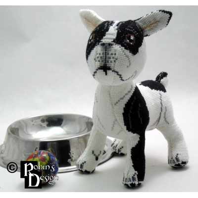Tache the French Bulldog Doll 3D Cross Stitch Animal Sewing Pattern PDF