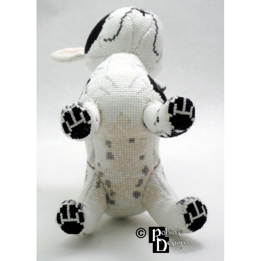 Tache the French Bulldog Doll 3D Cross Stitch Animal Sewing Pattern PDF