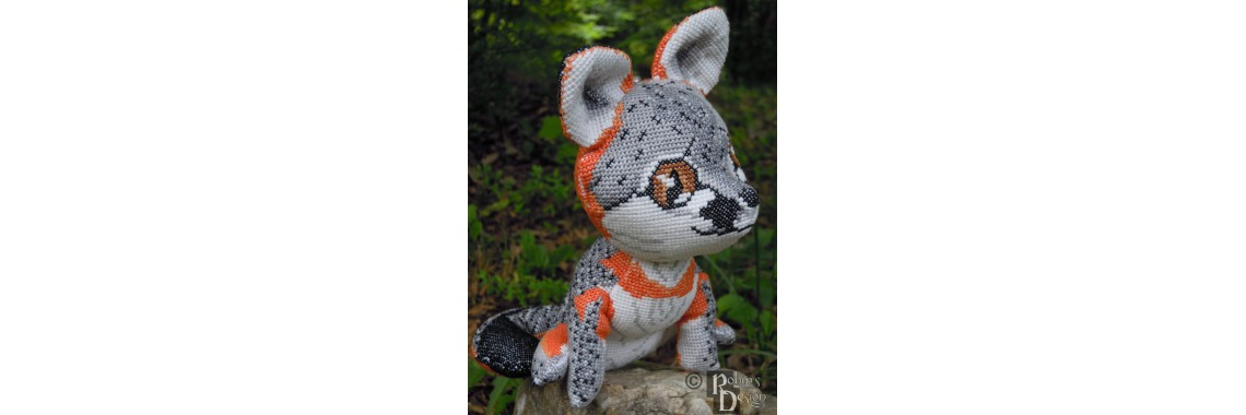 Gray Fox Cross Stitch Doll Pattern