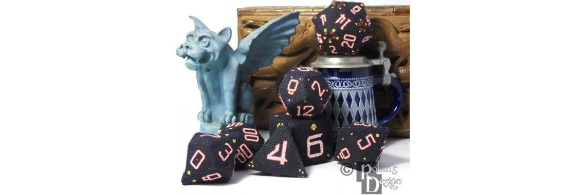 RPG Cross Stitch Dice Set Patterns