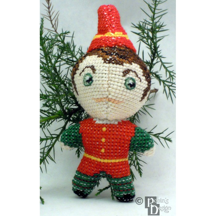 Santa's Elf Doll 3D Cross Stitch Sewing Pattern PDF