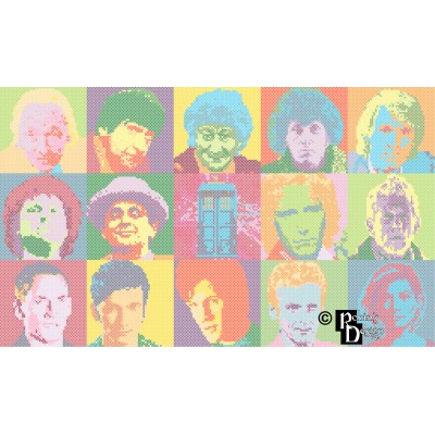 The Many Faces of The Doctor Cross Stitch Pattern PDF