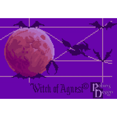 Witch of Agnesi Cross Stitch Pattern PDF