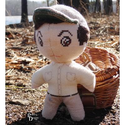 Gomer Pyle Doll 3D Cross Stitch Sewing Pattern PDF Download