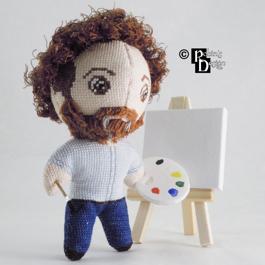 Bob Ross Doll 3D Cross Stitch Sewing Pattern PDF