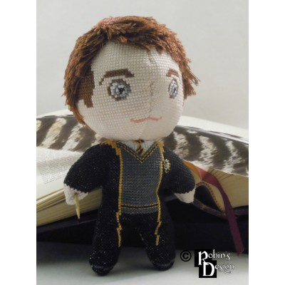 Cedric Diggory Doll 3D Cross Stitch Sewing Pattern PDF