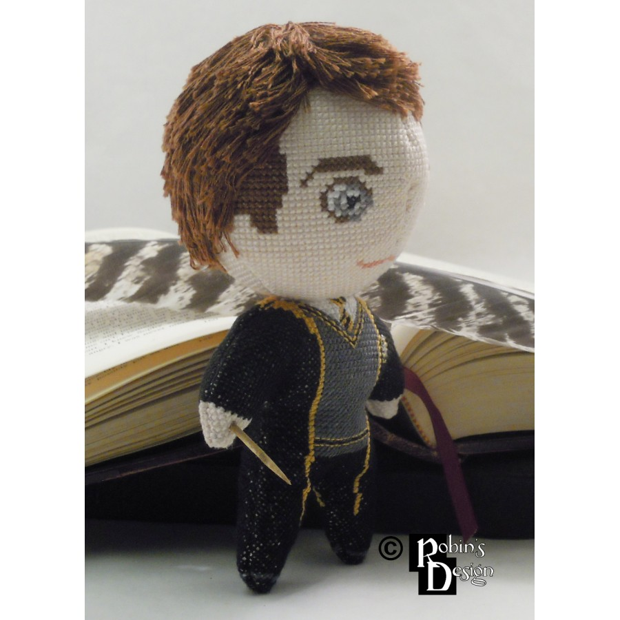 Cedric Diggory Doll 3D Cross Stitch Sewing Pattern PDF Download