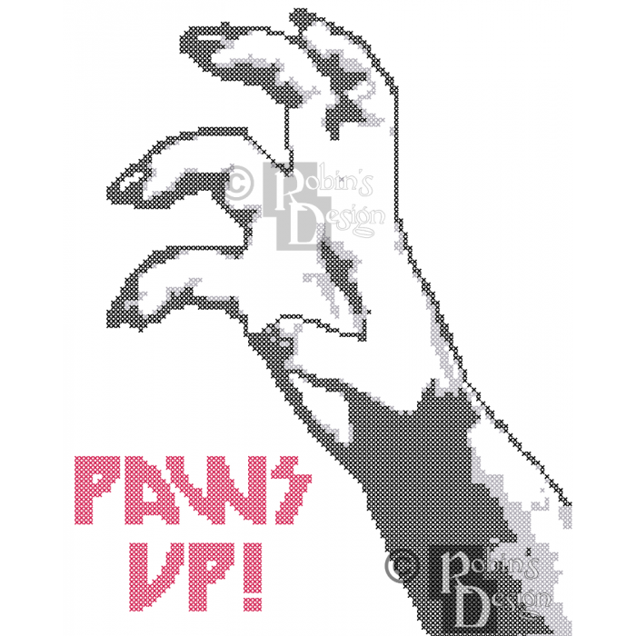 Little Monsters Paws Up Cross Stitch Pattern PDF