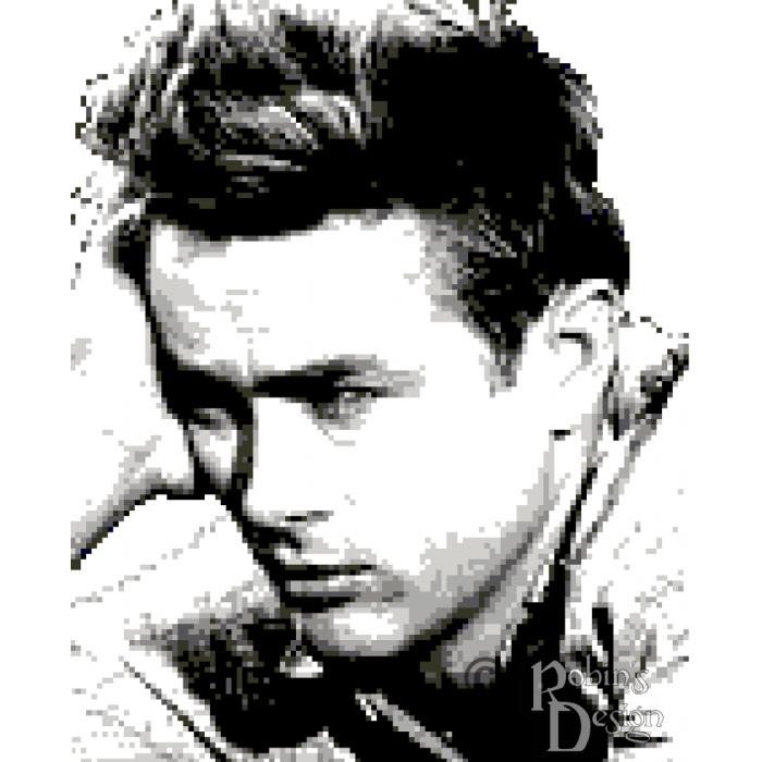 James Dean Cross Stitch Pattern PDF